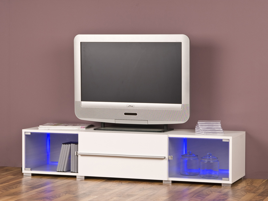 tv lowboard tv element fernsehschrank fernsehtisch glanz wei breite 141 cm ebay. Black Bedroom Furniture Sets. Home Design Ideas