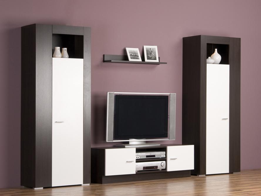 wohnwand schrankwand anbauwand wenge wei breite 259 cm mit beleuchtung ebay. Black Bedroom Furniture Sets. Home Design Ideas