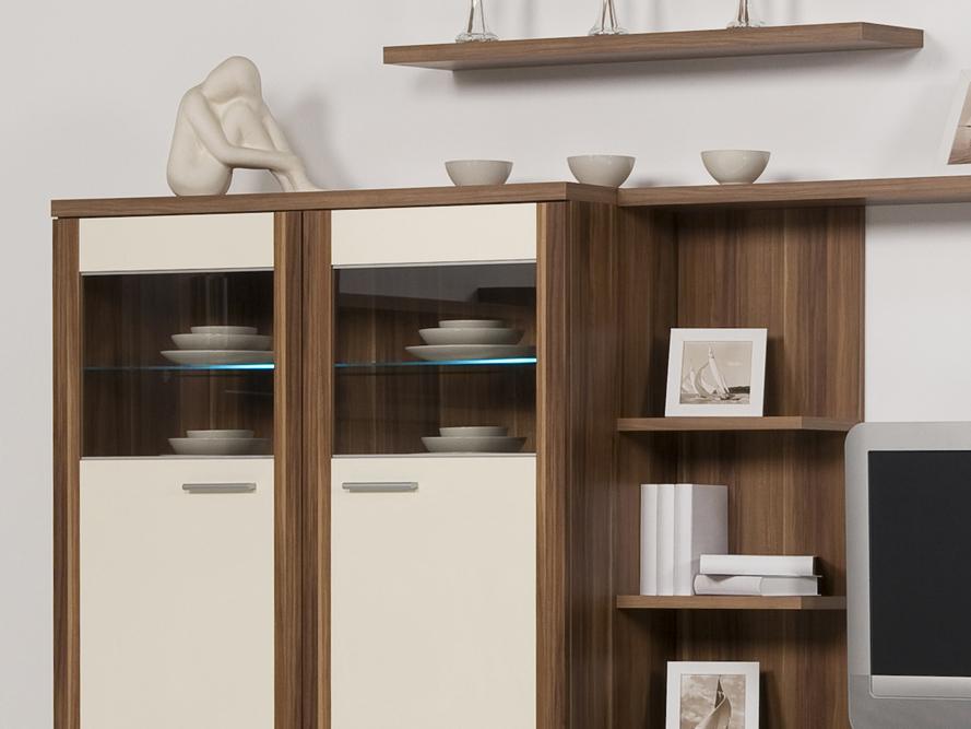 Wohnwand nussbaum creme  Wohnwand Creme ~ Interior Design und Möbel Ideen