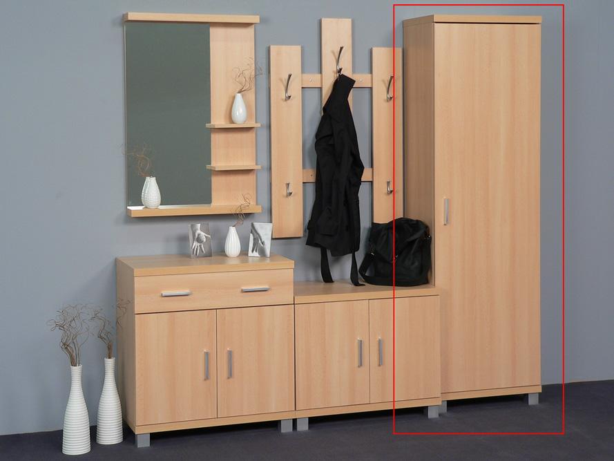 garderobenschrank seitenschrank dielenschrank garderobe buche dekor ebay. Black Bedroom Furniture Sets. Home Design Ideas