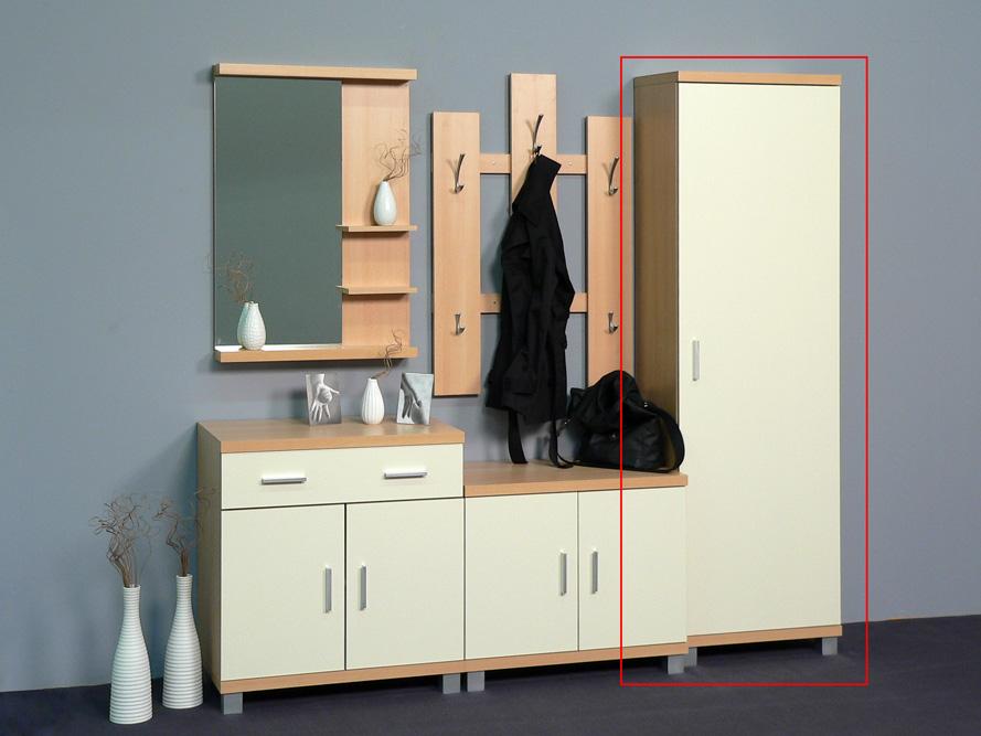 garderobenschrank seitenschrank dielenschrank garderobe buche creme dekor ebay. Black Bedroom Furniture Sets. Home Design Ideas