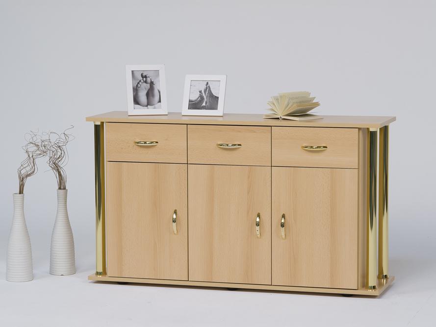 Sideboard anrichte buche mit eleganter s ulenoptik ebay for Buche dekor