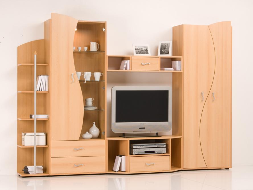 wohnwand anbauwand schrankwand buche mit beleuchtung breite 262 cm ebay. Black Bedroom Furniture Sets. Home Design Ideas