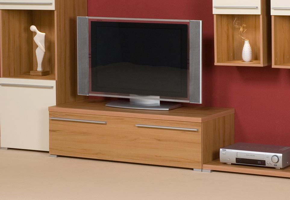 lowboard tv schrank tv element tv unterschrank kernbuche breite 120 cm ebay. Black Bedroom Furniture Sets. Home Design Ideas