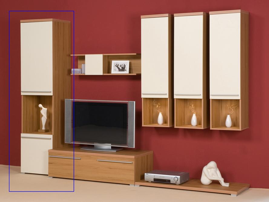 Wohnzimmer Cremefarben Seitenschrank Vitrine Fr Wohnwand