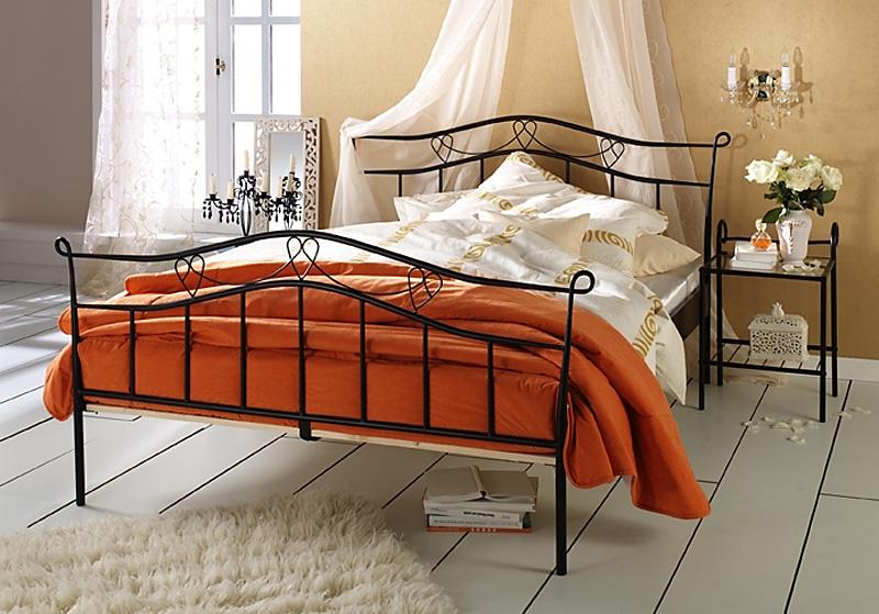 metallbett doppelbett schwarz liegefl che 160 x 200 cm inkl rolllattenrost. Black Bedroom Furniture Sets. Home Design Ideas