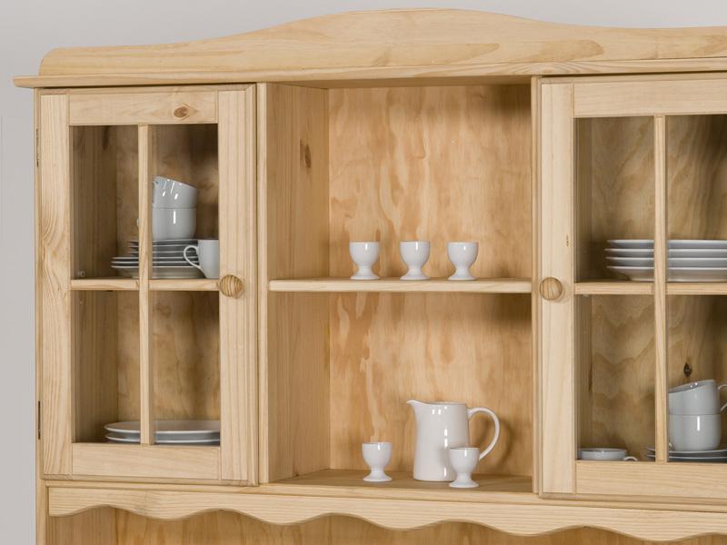 buffet k chenbuffet k chenschrank kiefer natur lackiert oder gelaugt ge lt ebay. Black Bedroom Furniture Sets. Home Design Ideas