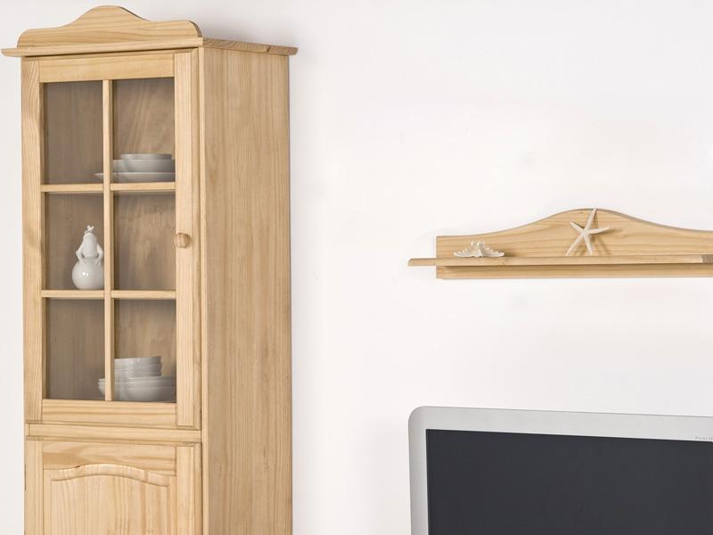 wohnwand kiefer massiv gelaugt ge lt ebay. Black Bedroom Furniture Sets. Home Design Ideas