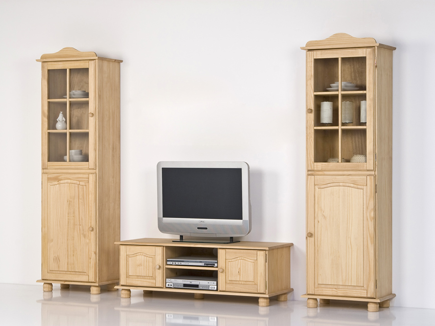 wohnwand kiefer massiv gelaugt ge lt ebay. Black Bedroom Furniture Sets. Home Design Ideas