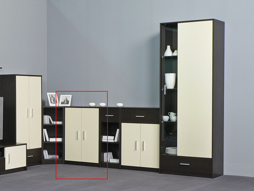 anrichte kommode sideboard modell hope 2 t ren wenge creme ebay. Black Bedroom Furniture Sets. Home Design Ideas