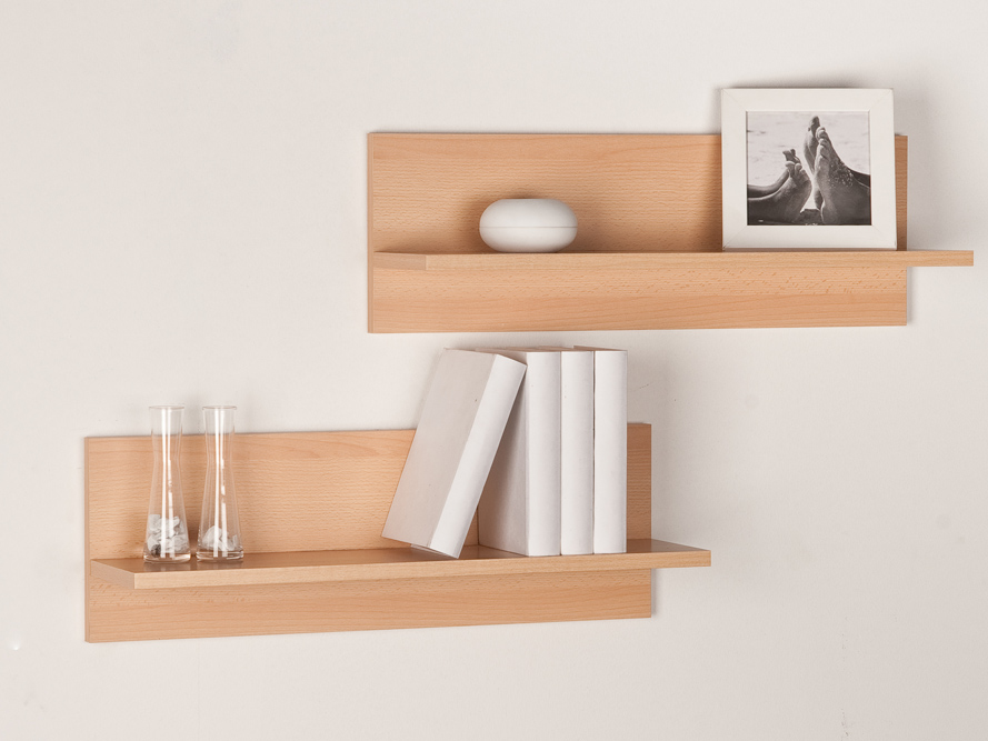 wandregal h ngeregal b cherregal wandboard regal 2 er set buche dekor ebay. Black Bedroom Furniture Sets. Home Design Ideas