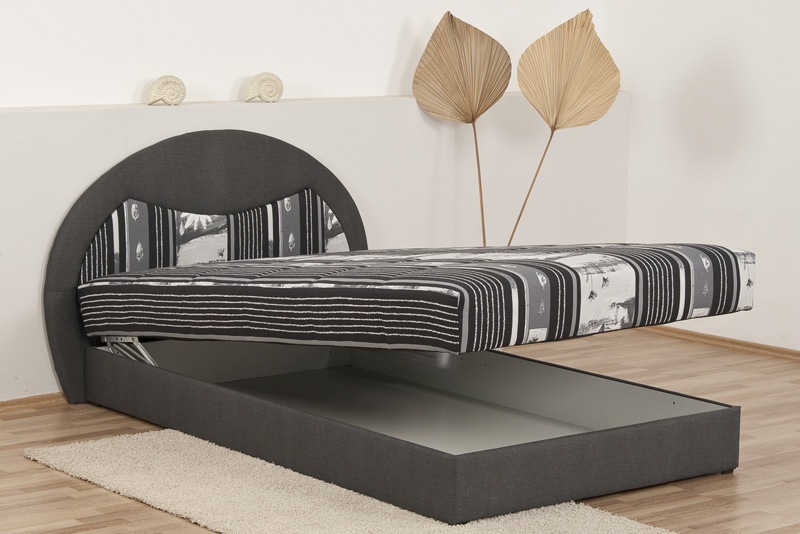 polsterbett polsterliege 120 x 200 cm mit federkern ebay. Black Bedroom Furniture Sets. Home Design Ideas