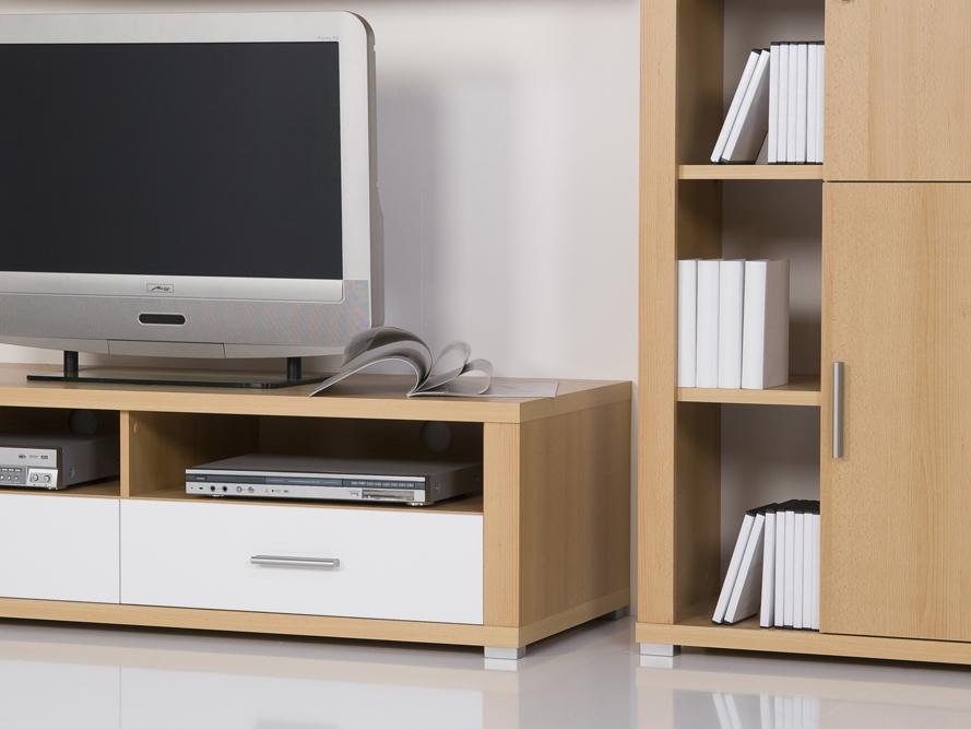 Wohnwand Schrankwand Anbauwand Buche / weiß glänzend +++ Angebot des Monats +++  eBay