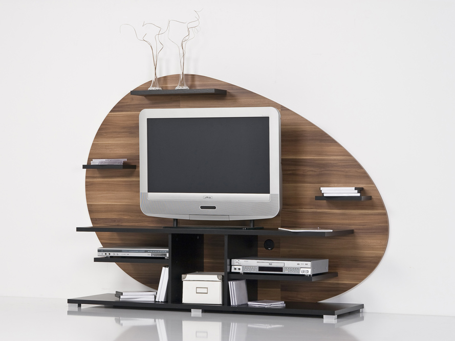 lowboard tv board tv regal fernsehschrank walnuss nussbaum schwarz ebay. Black Bedroom Furniture Sets. Home Design Ideas