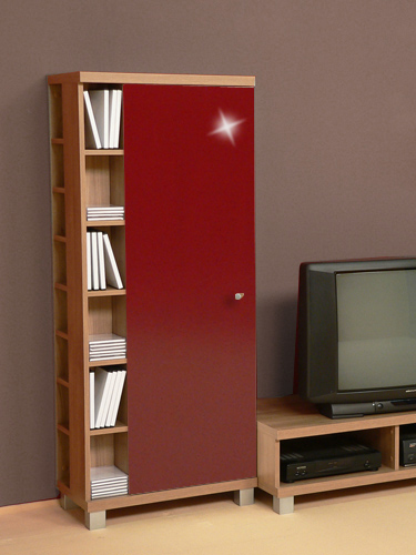 cd dvd schrank regal multifunktionsschrank noce rot ebay. Black Bedroom Furniture Sets. Home Design Ideas