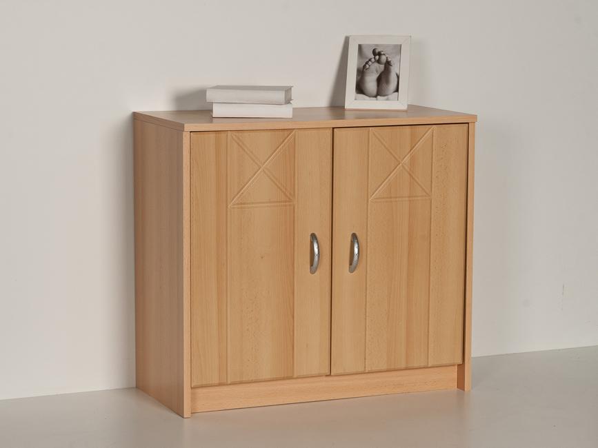 sideboard kommode anrichte 2 t ren buche dekor front mdf ebay. Black Bedroom Furniture Sets. Home Design Ideas