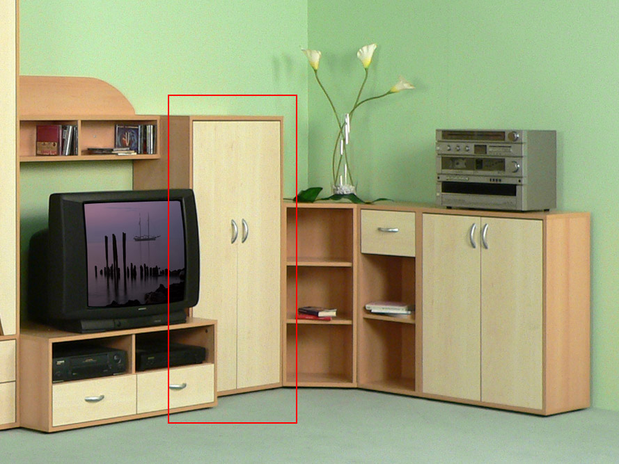 anrichte kommode highboard prima 2 t ren h he 120 cm buche ahorn dekor. Black Bedroom Furniture Sets. Home Design Ideas
