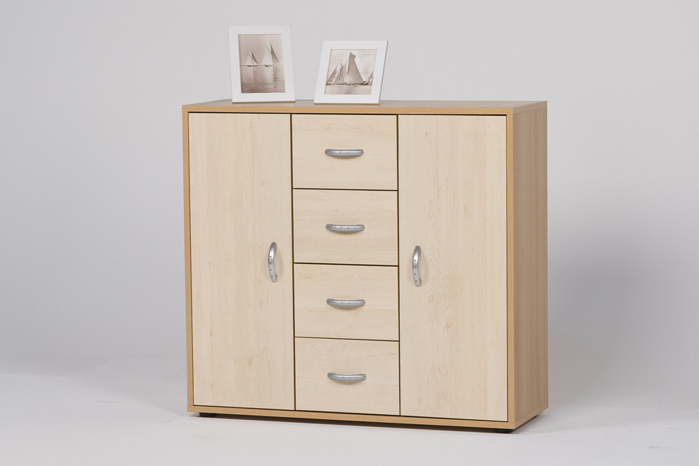 sideboard anrichte kommode buche ahorn ebay. Black Bedroom Furniture Sets. Home Design Ideas