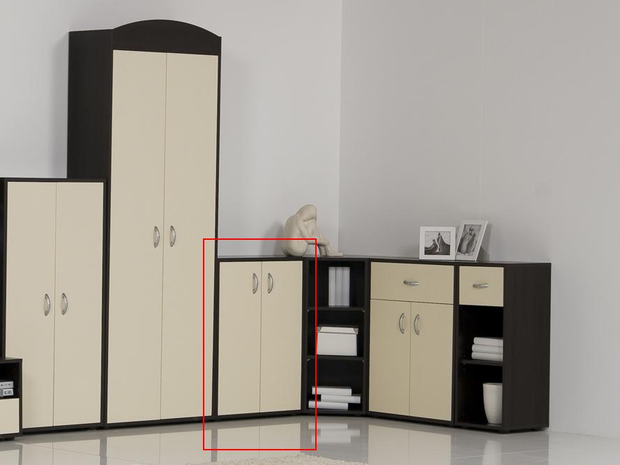 Anrichte kommode sideboard modell prima 2 t ren wenge for Kommode wenge