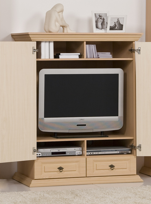 fernsehschrank tv hifi schrank tv schrank pinie front mdf im landhandhaus stil ebay. Black Bedroom Furniture Sets. Home Design Ideas