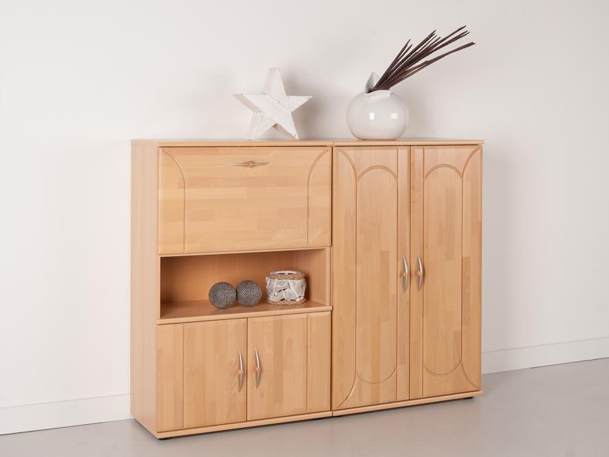 highboard sideboard anrichte 2 tlg buche front massiv. Black Bedroom Furniture Sets. Home Design Ideas