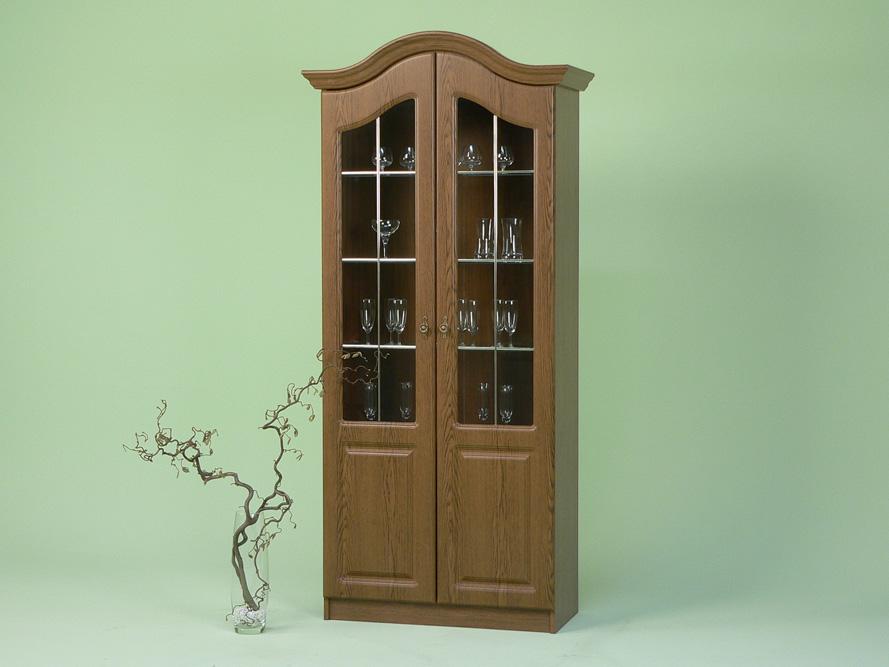 vitrine glasvitrine vitrinenschrank eiche rustikal dekor front mdf ebay. Black Bedroom Furniture Sets. Home Design Ideas