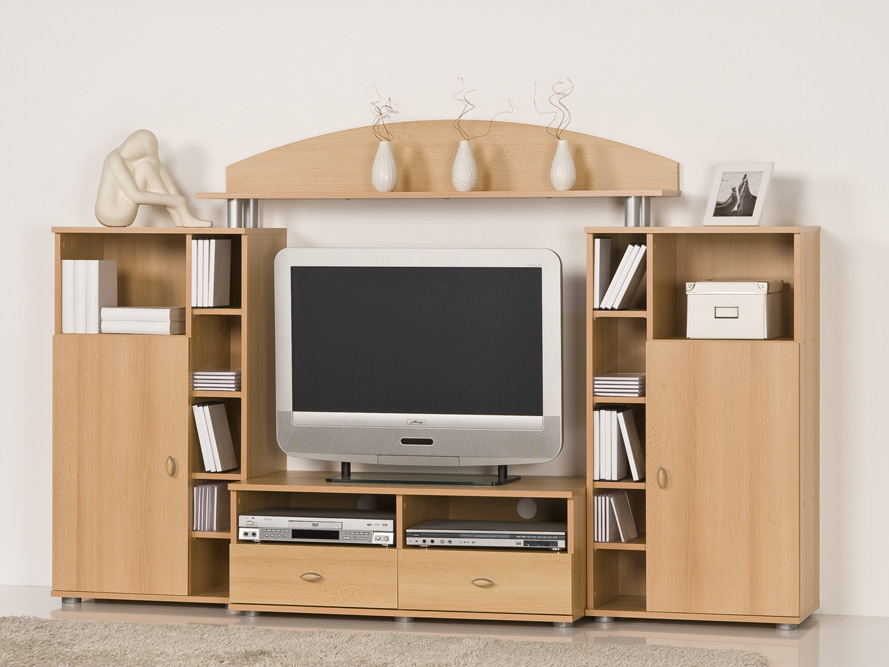 lowboard tv dvd video center tv regal fernsehschrank tv m bel buche ebay. Black Bedroom Furniture Sets. Home Design Ideas