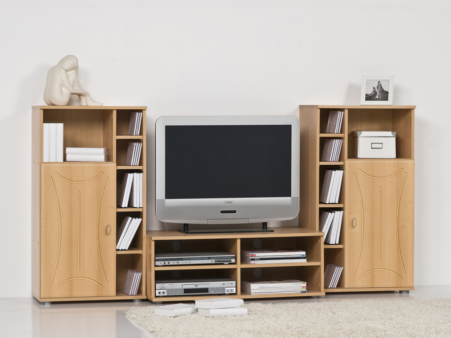 tv lowboard fernsehschrank medienwand tv dvd video center. Black Bedroom Furniture Sets. Home Design Ideas