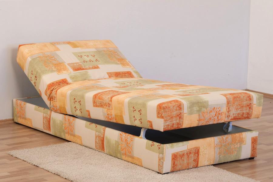 polsterliege polsterbett bett 90 x 200 cm verstellbar federkern bettkasten. Black Bedroom Furniture Sets. Home Design Ideas