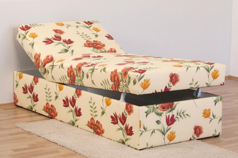 polsterliege polsterbett 90 x 200 cm komforth he 54 cm bettkasten federkern ebay. Black Bedroom Furniture Sets. Home Design Ideas