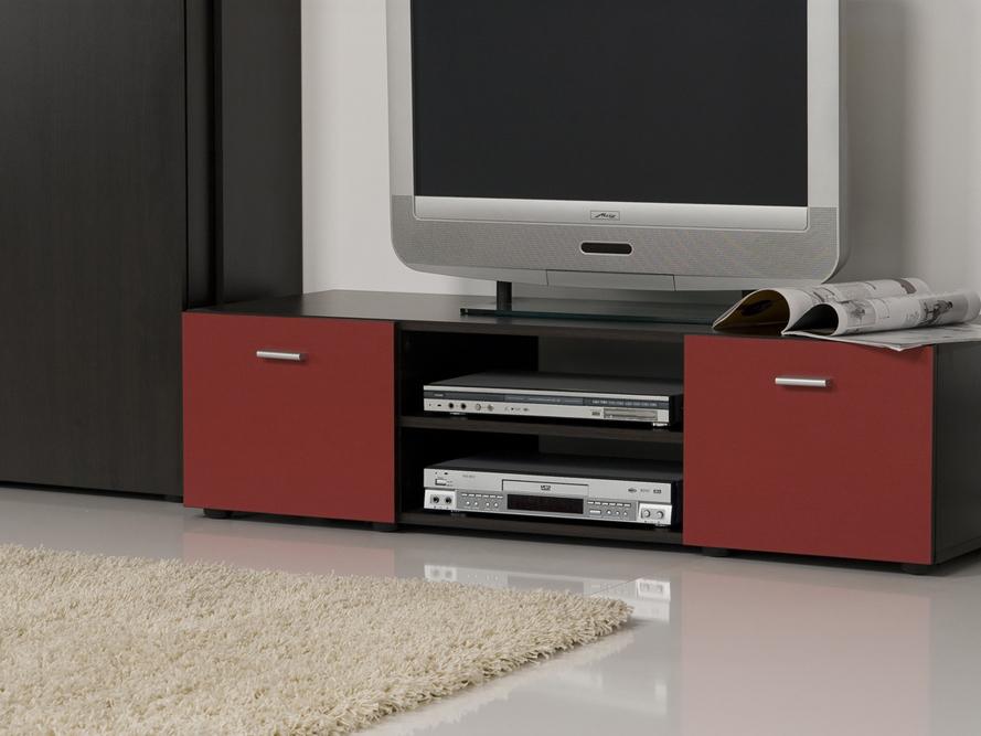 Wohnwand anbauwand wenge rot top design und optik for Wohnwand rot