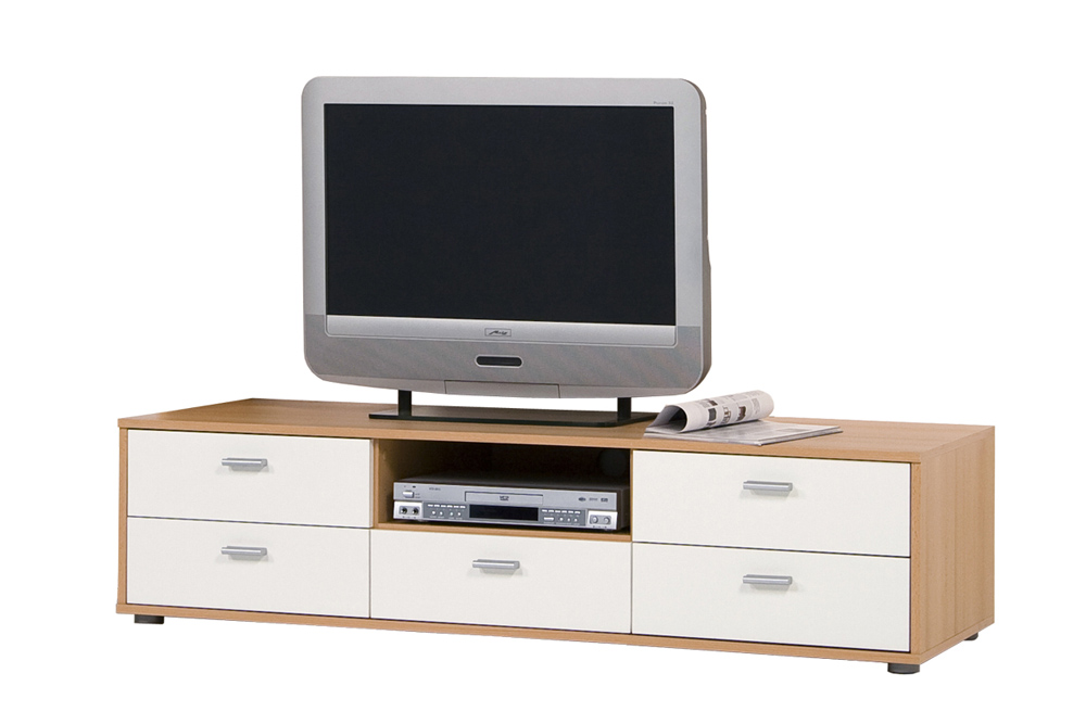 tv lowboard tv schrank tv element fernsehschrank fernsehtisch buche wei. Black Bedroom Furniture Sets. Home Design Ideas