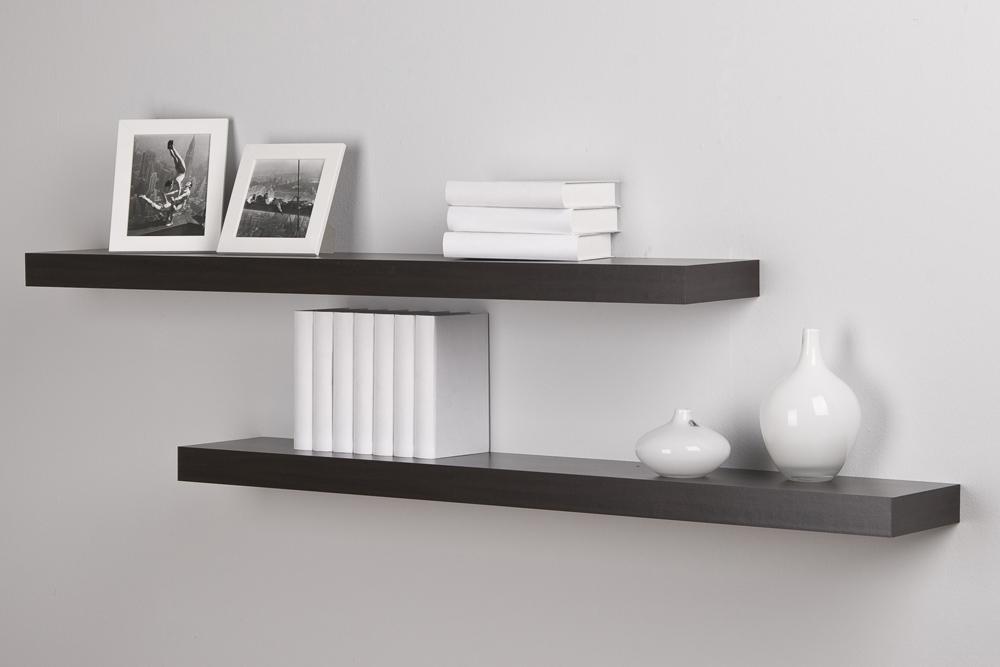 wandregal h ngeregal wandboard wandpaneel regal 2 er set wenge dekor ebay. Black Bedroom Furniture Sets. Home Design Ideas