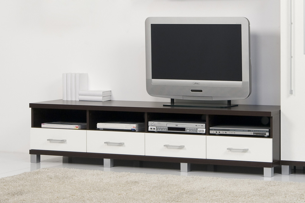 lowboard tv schrank tv element fernsehschrank wenge wei breite 189 cm ebay. Black Bedroom Furniture Sets. Home Design Ideas