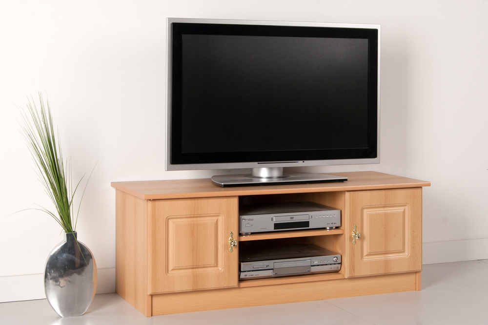 tv lowboard fernsehschrank buche dekor front mdf breite 120 cm ebay. Black Bedroom Furniture Sets. Home Design Ideas