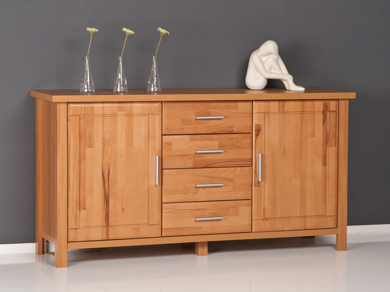 Highboard kommode anrichte kernbuche fronten massiv ebay for Sideboard geringe tiefe